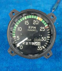 Serviceable 3 1/8 Piper P/n 37629-00 Mechanical Tachometer By Superior Labs