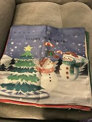 VIOMO 4 Christmas Pillow Covers 18x18 inch Canvas Throw Pillow Zippered Covers