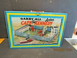 1-vintage Marx Cape Kennedy-action Carry-all-metal Tin Litho-playset No.4625