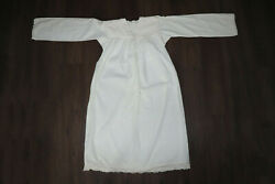 Antique Primitive Nightdress Shirt Homespun Fabric Cotton Weave About 1920and039s.