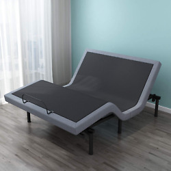 Leisuit Upholstered Adjustable Bed Base With Head And Foot Inclinewireless Remo