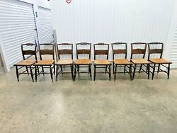 8 19th C Hitchcock Chairs, 2 Similar Sets Of 4