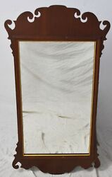 Friedman Brothers Williamsburg Mahogany Chippendale Style Mirror Looking Glass