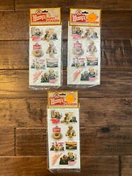 3 Vintage {1984} Imperial Wendy's {where's The Beef} Puffy Stickers Lot