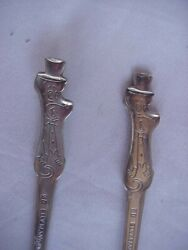 Kelloggs Cereal Premium Spoons Huckleberry Hound Silverplate Retro Lot Of 2