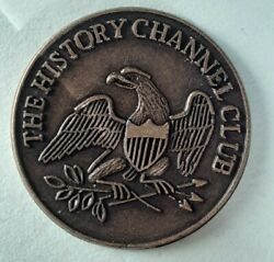 Token The History Channel Club 1776 Andndash1976 Liberty Bell Eagle Brass 7/8andrdquo Dia.