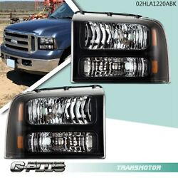 Fit For 2005 2006 2007 F250 F350 F450 Super Duty Replacement Headlights Lamps