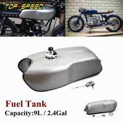 Motorcycle 9l Gas Fuel Tank Unpainted Universal For Bmw Honda Yamaha Cafe Racer