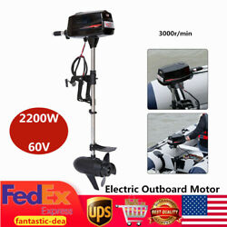Hangkai Brushless Electric Outboard Engine Inflatable /fishing Boat Motor 2200w