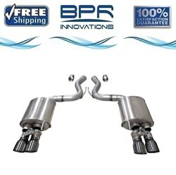Corsa 304ss Valved Axle-back Exhaust System Quad Rear For Mustang 18-19 21002gnm