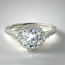 Solid 950 Platinum 0.76 Ct Real Diamond Wedding Ring For Proposal Size L M N O P