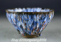 """5"""" Old Chinese Song Era Kiln Porcelain Furniture Rice Bowl Cup Statue"""