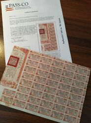 China 1944 Chinese Allied Victory 10,000 Yuan Coupons + Pass-co Bond Loan