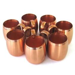 Vintage West Bend Solid Copper Mugs Moscow Mule Lot Of 7