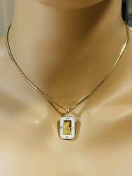 18k Fine 750 Japan Gold Women's Liberty White Necklace With 16 Long 3.2mm 15.5g