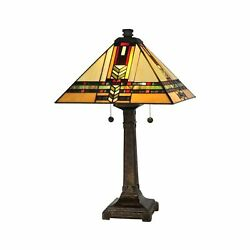 Dale Tt13061 /mica Two Light Table Lamp From Palo Mission Coll...