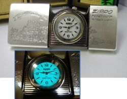 Timetank Zippo Time Tank Horse And Motorcycle Clock Running Minor Flaws 370304b71