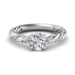 Natural 0.70 Ct Round Cut Diamond Wedding Ring Solid 14k White Gold Size 5 6 7 8