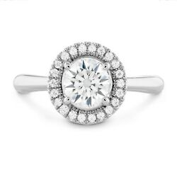 1.10 Ct Round Cut Natural Diamond Wedding Ring 14k Solid White Gold Size 6 7 8 9