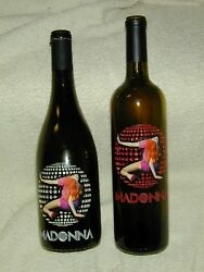 2 Madonna1silver And1 Red wine Bottles Confessions On A Dance Floor Empty