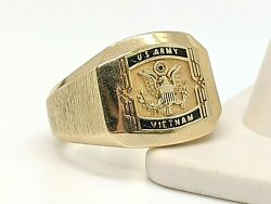 Us Army Vietnam Ring 14kt Yellow Gold