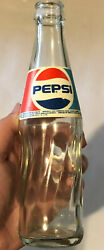 Vintage Rare Foreign Diet Pepsi Cola Soda 20cl Empty Clear Glass Bottle
