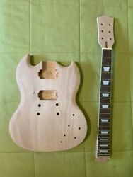 Set Neck Sg Body And Neck Electric Guitar Kit Project