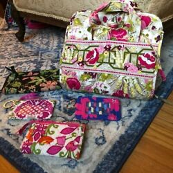 Lot Of 5 Vera Bradley Pieces   Makeup Organizer, Id Case And Wallets