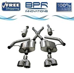 Corsa 304 Ss Cat-back Exhaust System With Quad Rear Exit For Jeep 18-21 21051