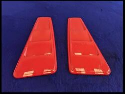2010-2014 Ford Mustang Gt S197 Quarter Window Scoops Louvers Pair Pq Race Red