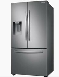 27-cu Ft Stainless Steel French Door Refrigerator With Ice Maker