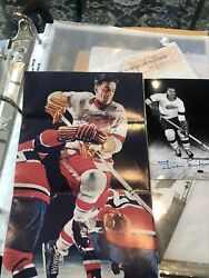 Qty 2 Ted Lindsay Autographed Signed Photo S Guaranteed Authentic Inventory 5