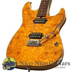 Tand039s Guitars 2016 Dst-spider22/bm Burl Maple Amber Electric Guitar