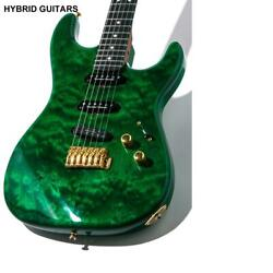 Warmoth Stratocaster Type Quilted Maple Top Ssh Trans Green Electric Guitar
