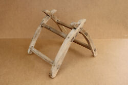 Antique Primitive Wooden Wood Donkey Saddle Rustic Ranch Farmhouse Early 20th