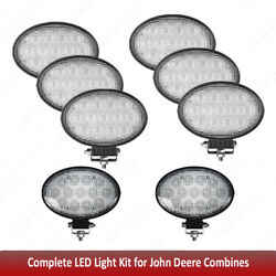Oval Tractor Led Work Light Kit For John Deere 9650sts 9660 9660sts 9670sts+