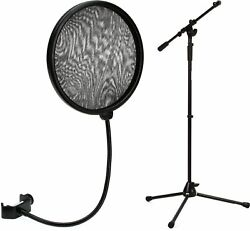 Neumann Ps 20 A Pop Screen + On-stage Stands Ms9701tb+ Heavy-duty Tele-boom Mic
