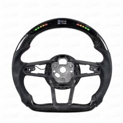2016-2019 Carbon Fiber Steering Wheel With Led For Audi R8