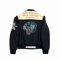X Disney Black Wool Jacket With Tiger Embroidery Size 48 - M Rrp £3,120