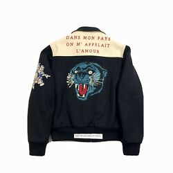 X Disney Black Wool Jacket With Tiger Embroidery Size 48 - M Rrp Andpound3120