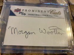 2009 Ud Prominent Cuts Morgan Wootten Certified Auto/sign 7/10