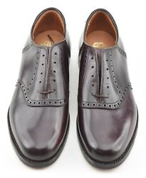 New Old Stock W Box   Alden 7d 8 Shell Cordovan Saddle Shoe 994