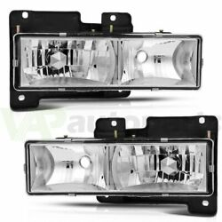 Fits 1988-1998 Chevy/gmc C10 C/k Headlights Assembly Pair Replacement Headlamp