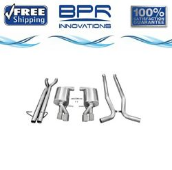 Corsa 304 Ss Cat-back Exhaust System With Quad Rear Exit For Audi S4 05-09 14540
