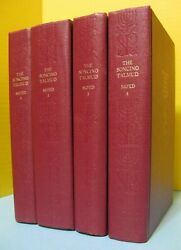 4 Volume Soncino Babylonian Talmud Moed Holiday Occasionsin English Annotated