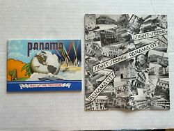 1940 Panama City And The Panama Canal Travel Brochure And Picture Book