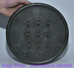 10.4 Rare Antique Chinese Bronze Ware Dynasty Palace 9 Hole Bronze Mirror