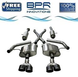 Corsa 304 Ss Cat-back Exhaust System With Quad Rear Exit For Jeep 18-21 21051blk