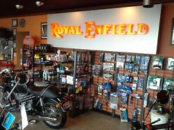 Royal Enfield Lighted Sign Dealership Mancave Garage Single Sided