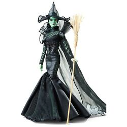 The Wizard Of Oz Fantasy Glamour Wicked Witch Barbie Gold Label With Shipper Nib